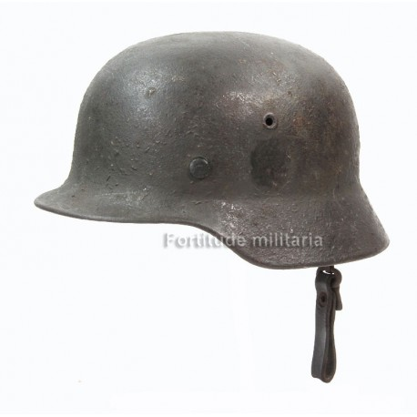 German M40 combat helmet camo with carrying system
