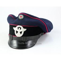 Fire police visor cap