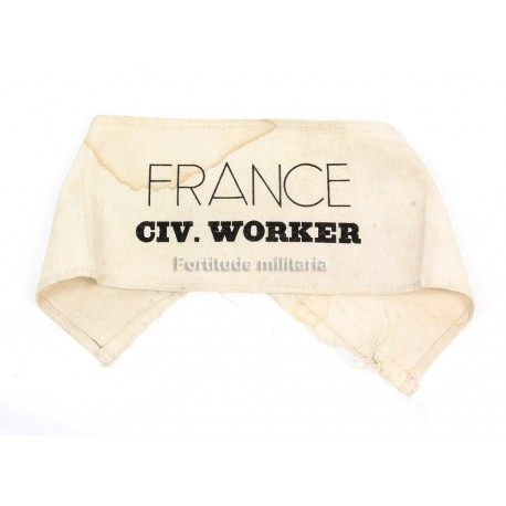 French civilian worker armband