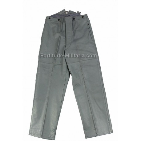 Grey leather Kriegsmarine trousers