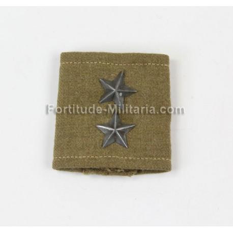Polish lieutnant shoulder board slip-on