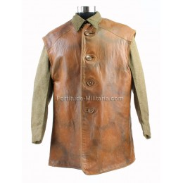 Rare camouflaged leather jerkin