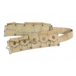 US garand ammo belt with soldier's ID