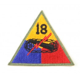 US patch : 18th armored division