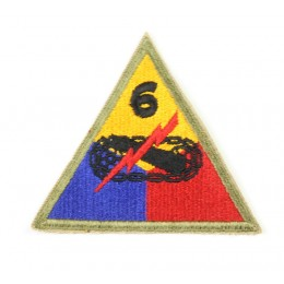 US patch : 6th armored division