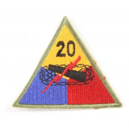 US patch : 20th armored division