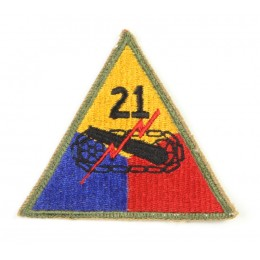US patch : 21st armored division
