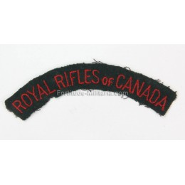 Royal rifles of Canada title
