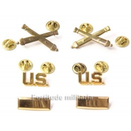 Us officer's insignias set