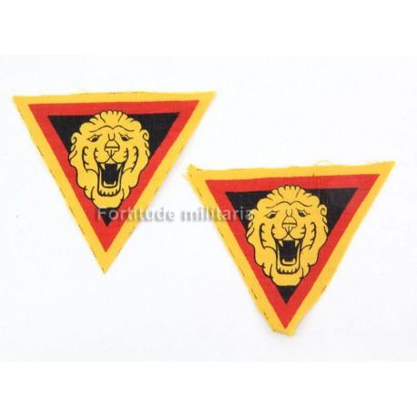 """Belgium insignias """"Brigade Piron"""""""