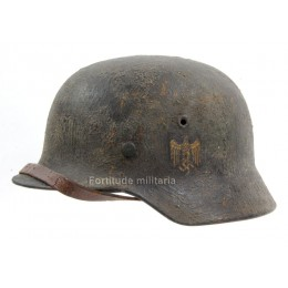 Kriegsmarine M40 camo helmet