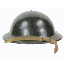 British civil defense helmet with camouflage