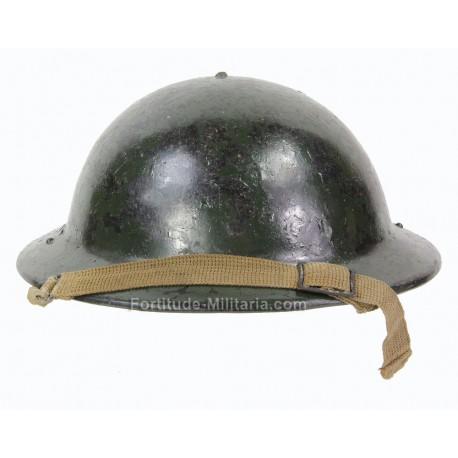 British civil defense helmet with camouflage