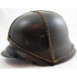 M40 helmet with original camouflage rope string