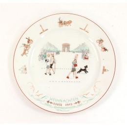 "Kriegsmarine plate "" Christmas 1943"""