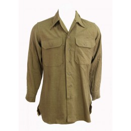 "Chemise moutarde US ARMY ""14'-32"""