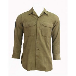 "Chemise moutarde US ARMY ""technician 4th grade"""
