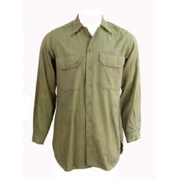 "Chemise moutarde US ARMY ""14'-34"""